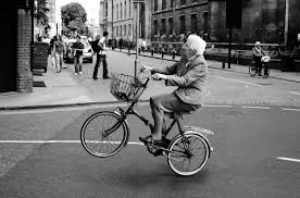 grandma on a bike